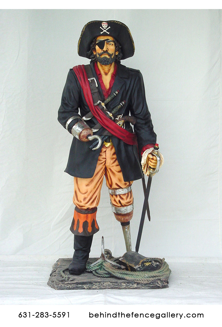 Pirate Captain Statue