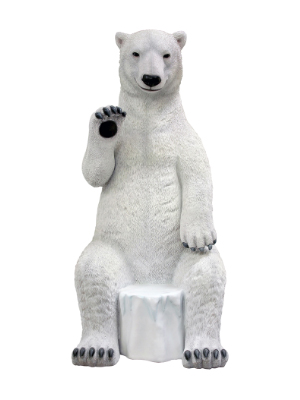 Sitting Polar Bear Statue