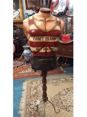 Vintage Coney Island Men's Swim Club Mannequin