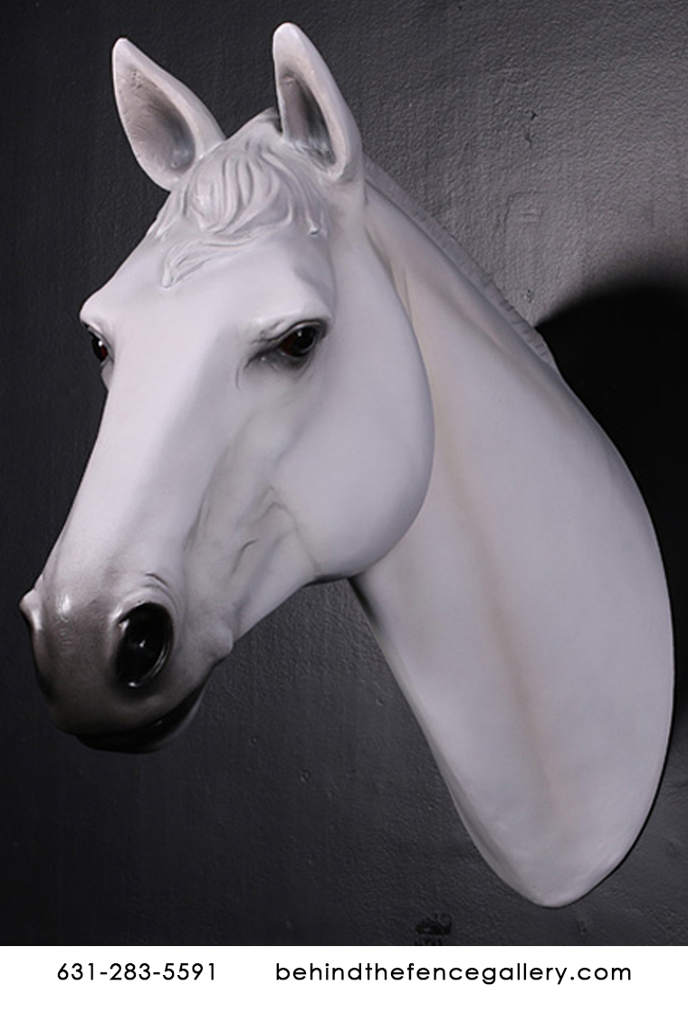 White Horse Head Wall Mount White Horse Head Wall Mount Behind The Fence Gallery Statues Bronze Sculptures Behind The Fence Gallery Statues Bronze Sculptures